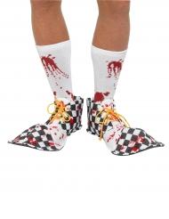 Cobre-sapatos de palhaço sangrentos adulto