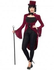 Casaca vampiro gótico luxo vermelho mulher