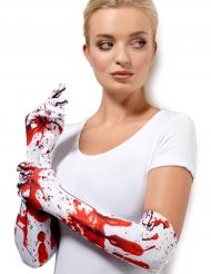Luvas compridas sangrentas adulto