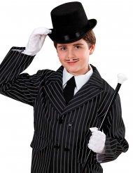 Chapéu alto preto criança