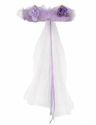 Coroa de Princesa em flores lilás menina