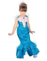 Disfarce sereia cor-de-rosa e azul menina