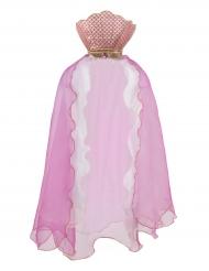 Capa de sereia cor-de-rosa menina