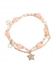 Pulseira Estrela cor-de-rosa menina