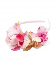 Bandolete coroa de flores menina