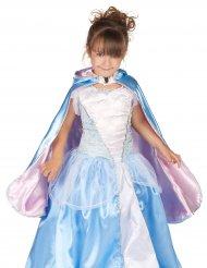 Capa reversível princesa azul e cor-de-rosa menina