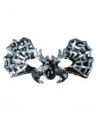Mascarilha morcego prateado menina