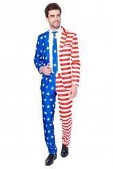 Fato Mr. USA Flag homem Suitmeister™