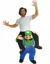 Disfarce homem às costas de Bombeiro verde adulto Morphsuits™