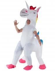 Disfarce insuflável Unicórnio gigante adulto Morphsuits™