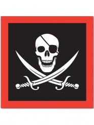 16 Guardanapos de papel Pirata caveira 33 x 33 cm