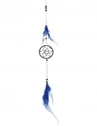 Filtro dos sonhos com pena azul 5 x 35 cm