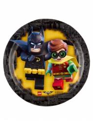 8 Pratos pequenos de cartão Lego Batman™ 18 cm