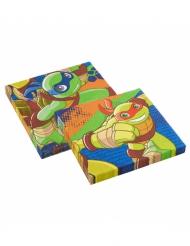 20 Guardanapos de papel Tartarugas Ninja™