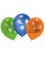 6 Balões de látex Tartarugas Ninja™ 70 cm
