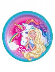 8 Pratos de cartão Barbie Dreamtopia™