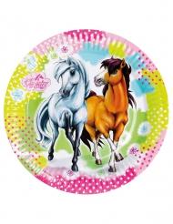 8 Pratos de cartão Charming Horses 23 cm