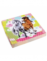20 Guardanapos de papel Charming Horses