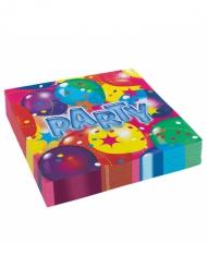 20 Guardanapos de papel Party 33 x 33 cm