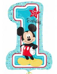 Balão número1 alumínio Mickey™