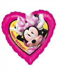 Balão coração alumínio Happy Birthday Minnie™