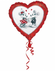 Balão alumínio coração Mickey e Minnie™ love