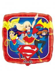 Balão quadrado alumínio DC Super Hero Girls™ 43 cm