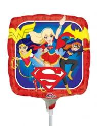 Balão quadrado alumínio DC Super Hero Girls™ 23 x 23 cm