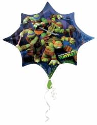 Balão estrela alumínio Tartarugas Ninja™ 88 x 73 cm
