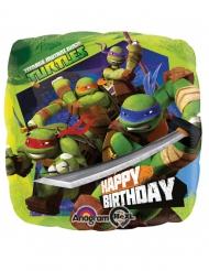 Balão quadrado alumínio Tartarugas Ninja™ 43 x 43 cm