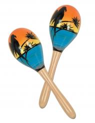 2 maracas tropicaus 20 cm