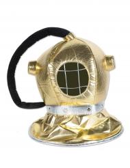 Capacete de mergulho em tecido dourado