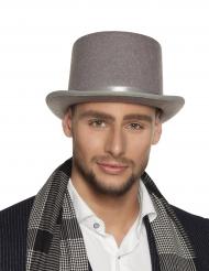 Chapéu alto cinzento adulto