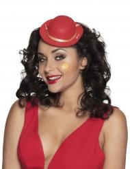 Mini-chapéu palhaço vermelho adulto