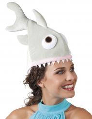 Chapéu tubarão pequeno em peluche adulto