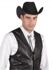 Colar xerife prateado adulto