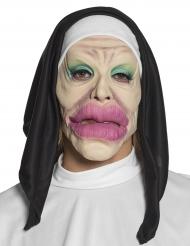 Máscara látex humorística religiosa adulto