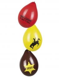 6 Balões Western Wild West 25 cm
