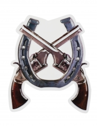 Decoração mural pistolas Western Wild West 47 x 40 cm