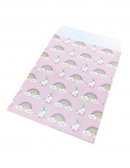 25 Sacos de papel bebé unicórnio 17 x 13 cm