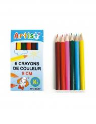 Acessórios pinhata 6 Lápis de cor 9 cm