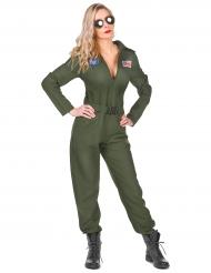 Disfarce piloto de avião mulher