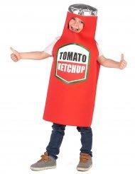 Disfarce ketchup criança