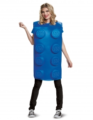 Disfarce bloco Lego® azul adulto