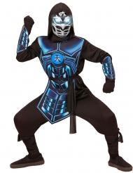 Disfarce cyber ninja luminoso e sonoro criança