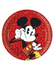 8 Pratos de cartão Mickey™ retro