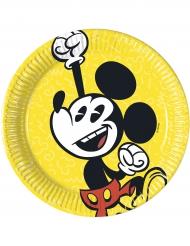 8 Pratos pequenos de cartão Mickey™ retro