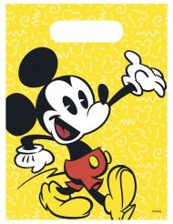 6 Sacos de festa Mickey™ retro 16,5 x 23 cm