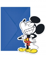 6 Convites com envelopes Mickey™ retro