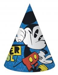 6 Chapéus de festa de cartão Mickey™ retro